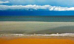 Seascape off coast of Sheringham beach , Norfolk