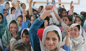 MDG : Students in a school funded by DFID in Swat valley in Pakistan