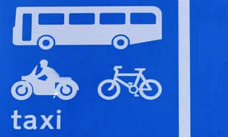 Bike blog : A bus lane road sign