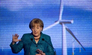 German Chancellor Angela Merkel at inauguration of the Baltic 1 offshore wind farm