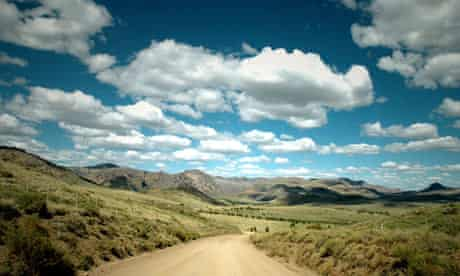 MDG : China land grabbing in Argentina : patagonian steppe near Bariloche city , Rio Negro state