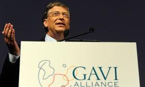 MDG : GAVI : Philanthropist Bill Gates