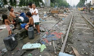 giving aid to poor countries is hardly a great act of generosity  mdg generosity help poor children makati city slum