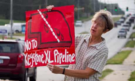 protester opposed to the Keystone XL pipeline , TransCanada's second pipeline
