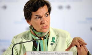 UNFCCC Executive Secretary Christiana Figueres during a press briefing in Climate Change talks