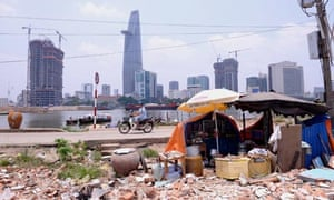 MDG : Ho Chi Minh city's financial district seen from the opposite side of Saigon river