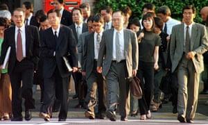 Tokyo office workers