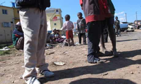 MDG : Aid crisis in Madagascar : poverty in Andohotapenaka II district of the capital Antananarivo