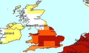 Drought in UK over last 3  months