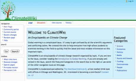 Leo blog : Screengrab of the ClimateWiki front page