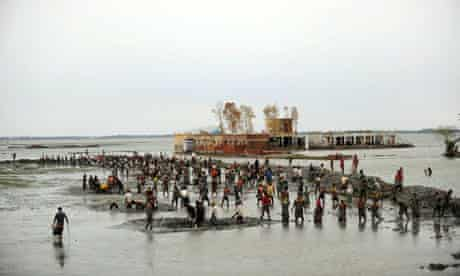 rising sea levels and coastal erosion in Bangladesh