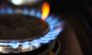 Domestic energy use : Gas burns on a hob of a domestic oven