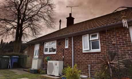 low carbon heating with the installation of Ecodan air source heat pumps from Mitsubishi Electric