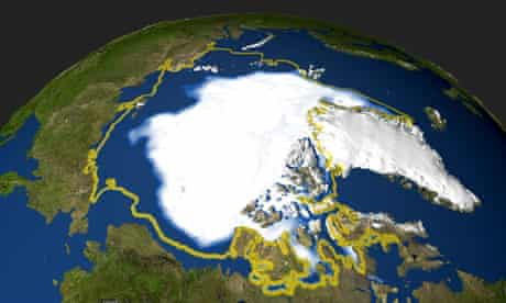 Arctic sea ice melting