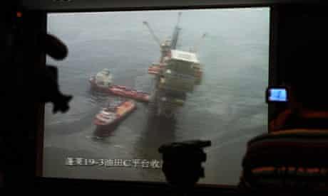 Oil spill in Bohai sea, China