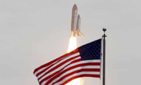 The space shuttle Atlantis, STS-135 lifts off from launch pad 39A at the Kennedy Space Center
