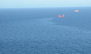 Shell Gannett Alpha platform oil spill in North Sea