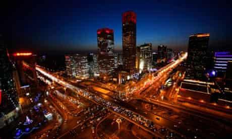 Jon Watts blog : One billion cars  : Vehicles drive on Three Ring Road  in central Beijing