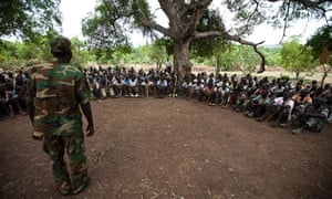 MDG : Souther Kordofan : New recruits for the SPLA in a secret camp in the Nuba mountains