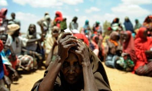 MDG : Famine in Somalia :  refugees in Doolow, south western Somalia