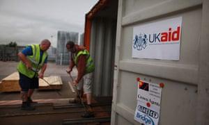 MDG : UKAID : AID effectiveness : Shipping to Pakistan