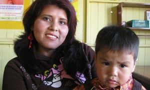MDG : Peru and malnutrition : Peruvian Mery Salvador, 26, and her 1 year-old son Abel