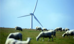 Leo Blog: Wind turbine tower over grazing sheep in South Wales