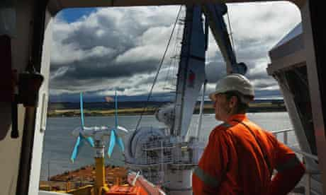 The AK- 1000 tidal energy turbine in Scotland