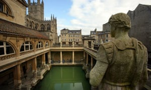 Historic Roman Baths Are Drained For Cleaning , spring water in Bath