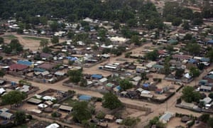 Aerial views of Juba southern Sudan
