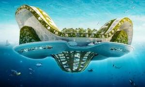"The ""Lilypad"" floating city, ""ecopolis"", concept by Belgian architect Vincent Callebaut"