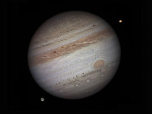 Royal Observatory Greenwich Astronomy Photographer of the Year 2011 , Jupiter with Io and Ganymede
