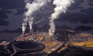 Georgia Power's coal-fired Plant Bowen in Euharlee, Georgia