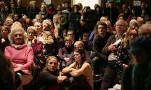 Public meeting on planned shale gas drilling and fracking site , Balcombe Village