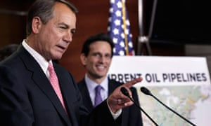 House Speaker John Boehner attends the GOP news conference on the Keystone XL pipeline decision