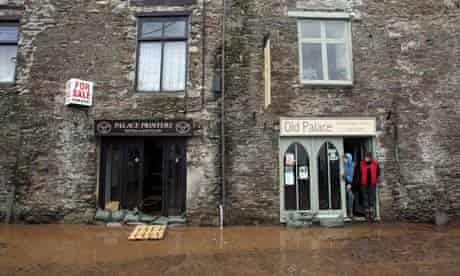 UK under the stress of climate change : floods Hits Devon And Cornwall