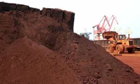 Rare earth for export to Japan at a port in Lianyungang, east China's Jiangsu province