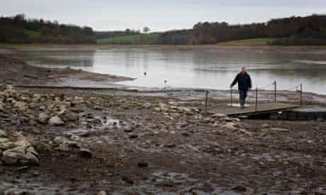 UK winter drought warning :  view of Ardingly Resevoir in Ardingly
