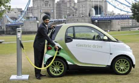 Electric car : Launch of the Smart Electric Drive Car trial, London