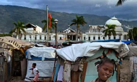 MDG : Haiti earthquake recovery : Champs de Mars tent city near National Palace in Port-au- Prince