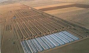 Green crude farm : Sapphire Energy produce oil on its 300-acre algae farm in Columbus, New Mexico