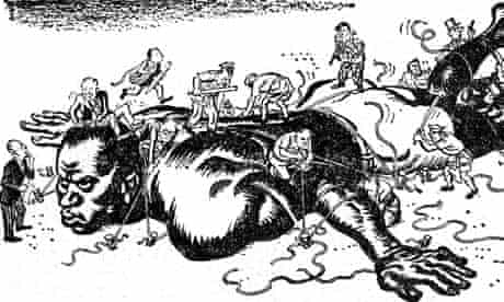 MDG : A cartoon commenting on colonalism in Africa : Andre Gunder Frank