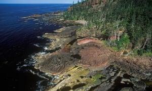 Geoengineering iron fertilisation in Canada : Aerial of the Haida Gwaii, British Columbia, Canada