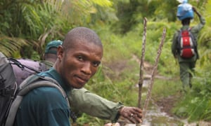 Gola rainforest : Forest guards monitoring the illegal activities that threaten forest, Sierra Leone