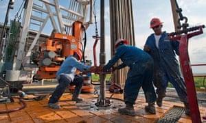 Oil Platform drilling rig near Encinal in Webb County, Texas