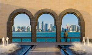 COP18 Doha UN Climate Change Conference : Skyline of Doha city, Qatar