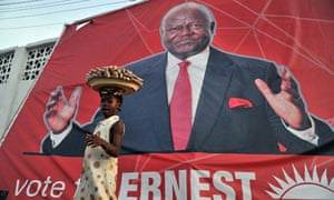 MDG : Liberia elections : picture of Sierra Leone's President Ernest Bai Koroma in Freetown