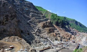MDG : Remittance : Gibe III dam under construction in Ethiopia's Omo valley