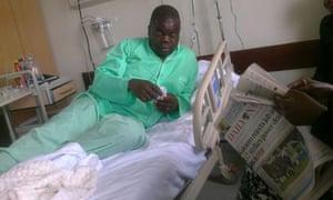 MDG: Kenya : Kenyan activist  Okiya Omtatah Okoiti recovering from his attack in a Nairobi hospital