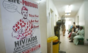 MDG : AIDS in Nigeria : HIV/AIDS awarness poster in Lagos